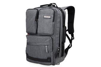 (20 inch / 51 CM, 51cm Nylon Grey) - WITZMAN Vintage Large Canvas Backpack Travel Rucksack Weekend Hiking Overnight Carry On Bag