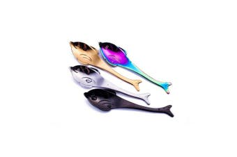 (Dolphin) - 13cm Teaspoons 18/10 Stainless Steel, Ccinny Cute Small Coffee Spoons, Coffee Spoon, Espresso Spoons, Stirring Spoons, Mixing Spoon, Sugar Dessert Cake Spoon, Ice Cream Spoon, Set of 4