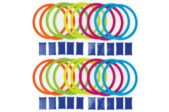 Boley Party Pzazz! Hopscotch Ring Set with 20 Hoops and 20 Connectors - Great for Outdoor Play at The Park for Boys and Girls!