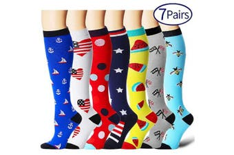 (Small/Medium, Assort 9) - Compression Socks for Women and Men - Best Athletic,Fitness Nursing, Edoema,Diabetic,Varicose Veins,Maternity,Travel,Flight Socks. Boost Performance Blood Circulation & Recovery