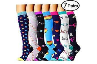 (L/XL, Assort 4) - Compression Socks for Women and Men - Best Medical, Nursing, Athletic, Edoema, Diabetic,Varicose Veins,Maternity,Travel,Flight Socks