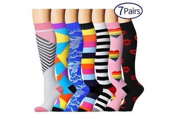 (L/XL, Assort 5) - Compression Socks for Women and Men - Best Medical, Nursing, Athletic, Edoema, Diabetic,Varicose Veins,Maternity,Travel,Flight Socks
