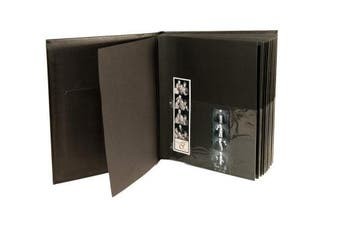 (1 Pack) - Photo Booth Album Scrapbook Slide in Pictures 40 Black Pages