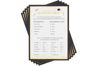 (Style B) - Chengu Graduation Party Game Card Grad Game Cards Graduation Wishes Graduate Cards for Graduation Party Supplies (Style B)