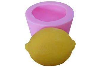 (Lemon) - GreatMold 3D Lemon Soap Mould Food Grade Cake Mould Silicone Mould for Soap Making