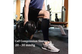 (Large, Nude) - Compression Calf Sleeves (20-30mmHg) for Men & Women - Leg Compression Socks for Shin Splint,Running,Medical, Travel, Nursing