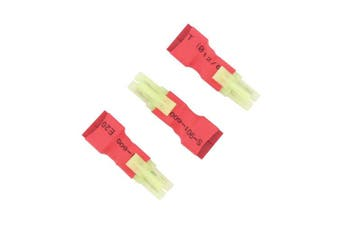 3pcs No Wires Connector: Micro Mini Tamiya Male to T-Plug Deans Style Female Adapter(BDHI-95)