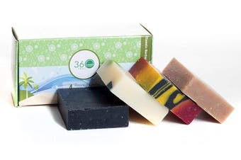 (4 Assorted Soap) - 4 Assorted Handmade Soap bar, X-LARGE 590ml - Mixed assorted fragrances earthy, fruity and floral - Normal to dry skin, Natural Soap - Organic Castile lye Soap, Made in USA- 360Feel