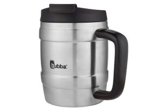 (590ml, Licorice/Grey) - Bubba Keg Vacuum-Insulated Stainless Steel Desk Mug, 590ml, Licorice