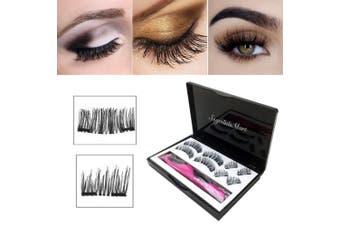 (Eyelashes01) - Magnetic Eyelashes,Reusable Magnetic False Eyelashes 3D Magnets Eyelashes with Tweezers Set