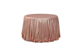 (340cm , Blush) - BalsaCircle TRLYC 340cm Round Sequin Tablecloth for Wedding Happy New Year 1.8m Table Cloth-Blush Pink
