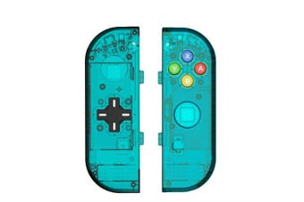 (Joycon D-Pad-ice Blue) - BASSTOP Translucent NS Joycon Handheld Controller Housing with D-Pad Button DIY Replacement Shell Case for Nintendo Switch Joy-Con (L/R) Without Electronics (Joycon D-Pad-ice Blue)