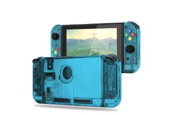 (Set-ice Blue) - BASSTOP [Update Version] DIY Replacement Housing Shell Case Set for Switch NS NX Console and Right Left Switch Joy-Con Controller without Electronics (Set-ice Blue)