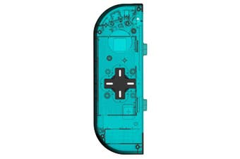 (Left-ice Blue) - BASSTOP Translucent NS Joycon Handheld Controller Housing with D-Pad Button DIY Replacement Shell Case for Nintendo Switch Joy-Con(Left Only) Without Electronics (Left-ice Blue)