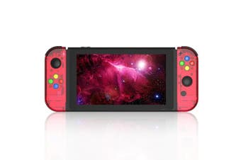 (Joycon-Watermelon Red) - BASSTOP [Update Version] NS Joycon Handheld Controller Housing DIY Replacement Shell Case for Nintendo Switch Joy-Con (L/R) Without Electronics (Joycon-Watermelon Red)