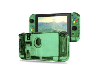 (Set-Jungle Green) - BASSTOP [Update Version] DIY Replacement Housing Shell Case Set for Switch NS NX Console and Right Left Switch Joy-Con Controller without Electronics (Set-Jungle Green)