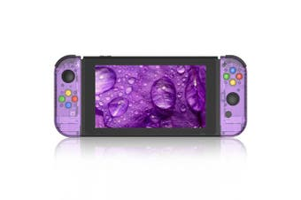 (Joycon-Atomic Purple) - BASSTOP Portable DIY Replacement Housing Shell Case for Right Left Switch Joy-Con Controller without Electronics (Joycon-Atomic Purple)