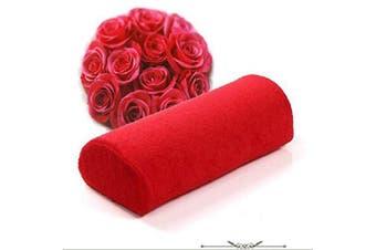 (Red) - QIMYAR Soft Nail Art Design Cushion Hand Rest Pillow Half Column Manicure Care Treatment Salon Tool