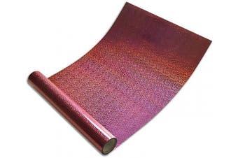 (25cm ×1.5m, Pink) - Holographic Vinyl,Heat Transfer Vinyl Rainbow HTV for DIY Clothing,Shirts,Bags,Hats,Socks (25cm ×1.5m, Pink)
