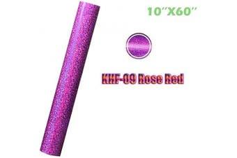 (25cm ×1.5m, Rosered) - Heat Transfer Vinyl Holographic Vinyl Colourful HTV (25cm ×1.5m, Rosered)