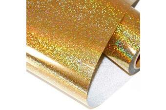 (25cm ×1.5m, Yellow) - Laser Colourful Heat Transfer Vinyl HTV (25cm ×1.5m, Yellow)