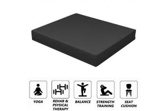(Black) - Strainho Non-Slip Balance Foam Pad,Gym Exercise Mat for Physical Therapy, Stability Workout, Knee and Ankle Exercise, Strength Training, Rehab - Chair Cushion for Adults, Kids, and Travel