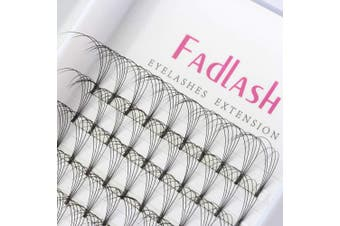 (5D-0.10-D, 18 mm) - Premade Volume Eyelash Extensions 8~20mm 5D Premade Lash Fans C D Curl 0.10mm Volume Lash Extensions Supplies by FADLASH (5D-0.10-D18)