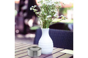 Relaxdays Ashtray Windproof, with Lid, in- & Outdoors, Brushed Stainless Steel, Round Ash Tray, H x D: 5.5 x 11.5 cm, Silver, One Size