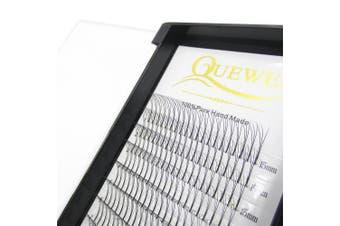 (15mm, 3D-0.10C Curl) - Quewel Lash Russian Volume Eyelash Extensions 3D 4D 5D 6D C D Curl 8-15mm Long Thickness 0.07/0.10 mm Premade Fans Volume Eyelashes Soft (3D-0.07-C, 15mm)