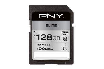 PNY Elite SDXC card 128GB Class 10 UHS-I U1 100MB/s