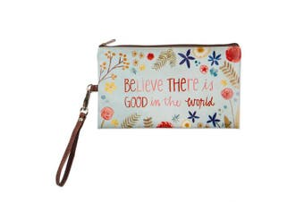 (22cm  x 13cm , Good In The World) - Brownlow Gifts 63038 Simple Inspirations Zippered Bag 22cm x 13cm Good In The World