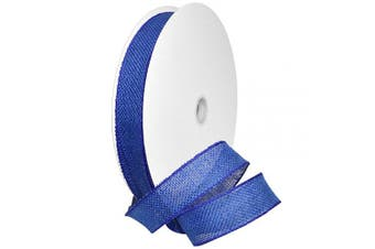 (3.8cm  x 50 Yd, Royal Blue) - Morex Ribbon Burlap Wired Ribbon, 3.8cm x 50 Yd, Royal Blue
