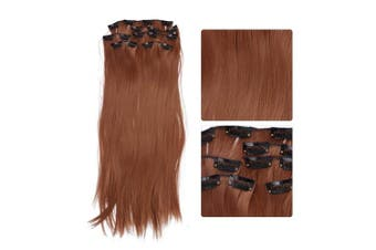 (01#) - Hair Extensions Wig,6Pcs Straight Full Head One Piece 16 Clips in Hair Extensions Long Poplar Style for Women (01#)
