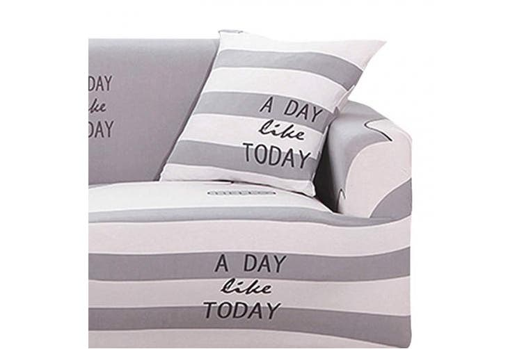 (Light Grey, 2 Seater) - Fashion·LIFE Sofa Slipcover 2 seater Sofa Covers Floral Printed Cover Elastic Anti-Slip Elastic Slipcover Furniture Protector for livingroom,Light grey