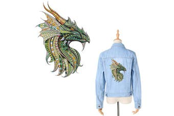 (Dragon) - Dragon Iron On Patches for Clothes Decal Chinese Dragon Appliques Watercolour Folk-Custom Style Thermal Transfer Sticker Heat Transfer Vinyl Badges with Waterproof & Washable for DIY T-Shirt Jacket