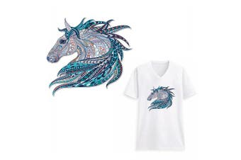 (Horse) - Horse Iron On Patch Watercolour Folk-Custom Style Beautiful Unicorn Appliques Heat Transfer Vinyl Sticker with Grade-A Thermal Transfer Stickers Waterproof & Washable Decal for DIY T-Shirt Jacket