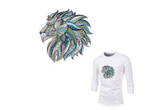 (Lion_three) - Lion Iron On Patch Beautiful Lion Appliques Watercolour Folk-Custom Style Heat Transfer Vinyl Sticker with Grade-A Thermal Transfer Stickers Waterproof & Washable Decal for DIY T-Shirt Jacket Dresses