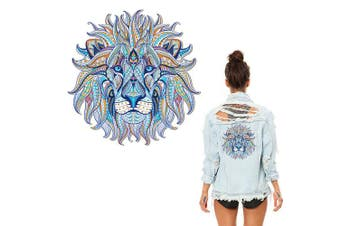 (Lion_two) - Artem Watercolour Folk-Custom Style Lion Patches Heat Transfers Iron on Stickers for DIY Tops Clothes Decoration Applique