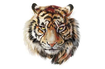 (Tiger_two) - Artem Tiger Clothes Patches Heat Transfer Iron on Stickers for Tops T-Shirts DIY Decoration Applique