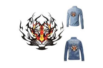 (Tiger_one) - Artem Tiger Sticker Clothes Patch Hot Heat Transfers Stickers Iron on for Tops T-Shirts DIY Decoration Applique