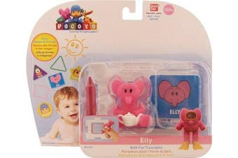 Pocoyo & Friends Elly Bath Fun Traceables Figure Toy