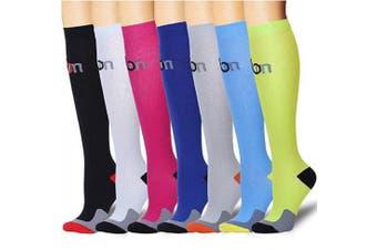 (S/M, Assort 12) - Compression Socks for Women and Men - Best Athletic,Fitness Nursing, Edoema,Diabetic,Varicose Veins,Maternity,Travel,Flight Socks. Boost Performance Blood Circulation & Recovery