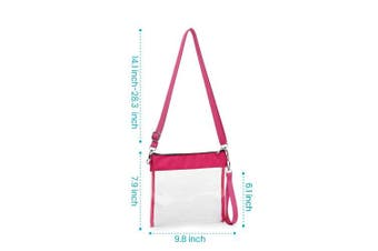 (Purple) - Clear Crossbody Purse NFL Stadium Approved Clear Bag with Adjustable Shoulder Strap and Wrist Strap for Work, School, Sports Games, Concerts
