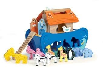 (1, HTMERIC) - Le Toy Van Wooden Noah's Ark Shape Sorter