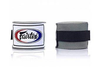 (300cm , Gray) - Fairtex Elastic Cotton Handwraps HW2-120 and 460cm - Full Length Hand Wraps. Many Colours