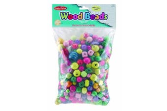 Charles Leonard Inc, Beads - Wood - Assorted Sizes/Colours - 1 0.5kg/Bag (59060)