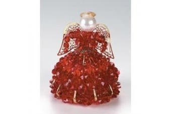Birthstone Angel Ornament Bead Kit - January Garnet