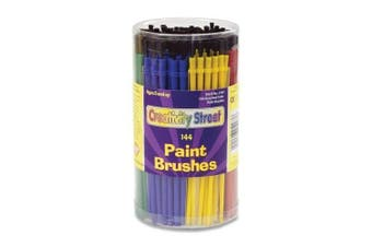 (Round Brushes, 144-Piece) - CHENILLE KRAFT COMPANY 5173 Classroom Brush Canister 144 CT Assorted