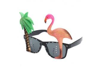 Best-Bag Hawaiian Tropical Sunglasses Funny Flamingo Tree Glasses Eyeglasses Toy for Fancy Dress