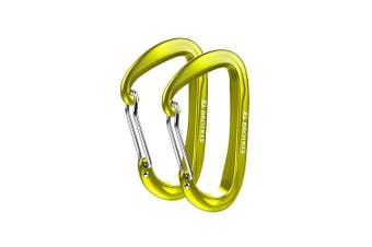 (2 A-WireGate Olive) - Brotree Carabiner D-Ring Wire Gate/Locking Carabiner Clip Hook for Hammock, Camping, Hiking, Fishing, and More